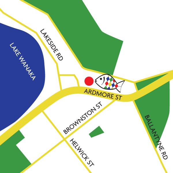 Wanaka fish and chips map